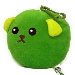 Mameshiba Plush Green Pea with Pass Case / Mascot