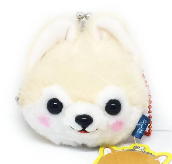 Creme Plush Dog Coin Purse by Amuse
