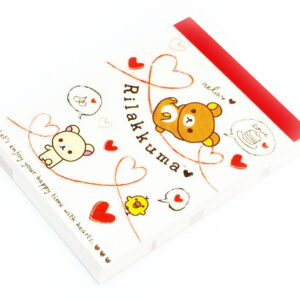 Rilakkuma Chicks and Hearts Mini Memo Pad by San-X