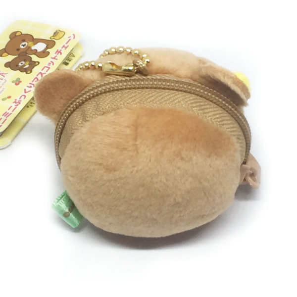 Rilakkuma bear small plush bag charm with pouch