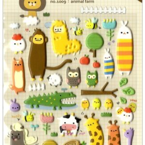 Animal Farm Sponge Stickers by Suatelier