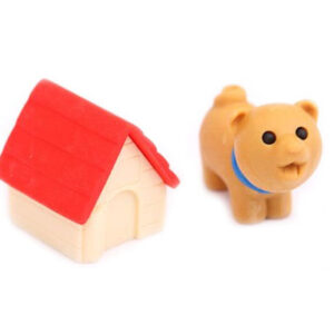 Dog and Kennel Iwako Erasers