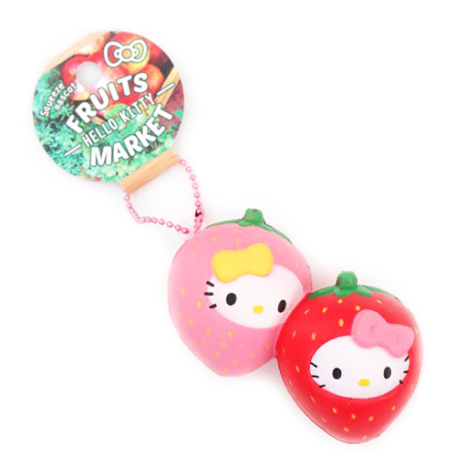 Hello Kitty Squishy Fruit Charm