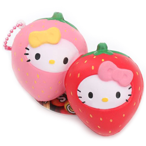 Hello Kitty Squishy Strawberry Charm