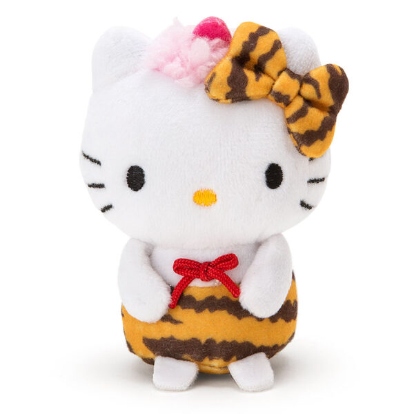 Pink Hello Kitty Mini Doll in Tiger Pants and Bow by Sanrio